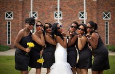 The bridesmaids and the pose... both do it for me!