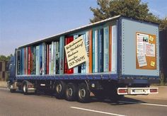 an optical illusion truck (in Germany, I think)