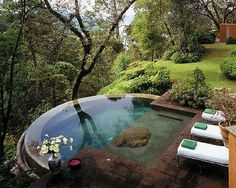 Infinity Wooded Pool http://media-cache8.pinterest.com/upload/59391288805663765_DKq94gtM_f.jpg katemahoney outdoor living spaces