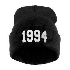Knitted Beanie Winter Mens Ladies Unisex Wooly Ski Turn Up Warm Hat Vintage 1994
