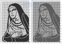 Santa Rita da Cascia schema uncinetto filet gratis.jpg (1142×839)