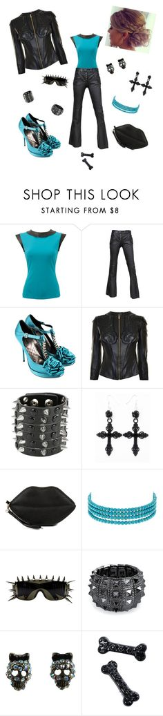 """I'm addicted to you"" by kendranorris ❤ liked on Polyvore featuring Alexander McQueen, Alberta Ferretti, Versace, Hot Topic, Gunne Sax By Jessica McClintock, Kenneth Jay Lane, ZeroUV, Bling Jewelry, Betsey Johnson and Kreepsville 666"