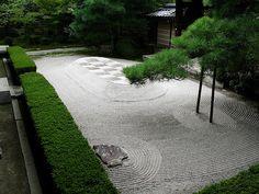 Ginkakuji Zen Rock Garden, Kyoto by jhandelman, via Flickr