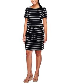 29.9A9 This Black Weekend Cap-Sleeve Dress - Plus Too by Susan Graver is perfect! #zulilyfinds