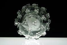 Glass model of HIV (2011) | Luke Jerram
