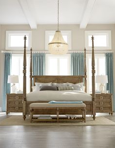Tall turned bed posts provide this bed with a sense of grandeur that is sure to transform any master bedroom into a relaxing retreat. The height of the posts can be adjusted if you are looking to change the look of your decor.