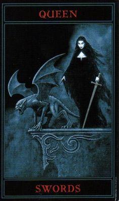 The Gothic Tarot: Queen of Swords