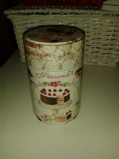Barattolo torta decoupage