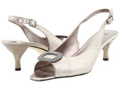 J. Renee Classic Taupe Metallic Nappa Leather - Zappos.com Free Shipping BOTH Ways