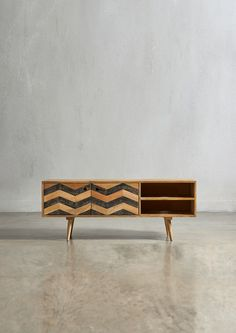 The HERZEN Media Unit - in Mango Wood - Swoon Editions - swooneditions.com