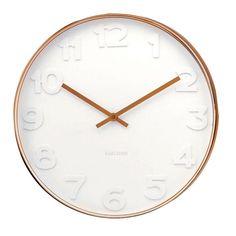 Karlsson Copper Mr. White Clock