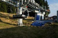 Zur #Bremsprobe bei Seilbahnen kommen schon mal Bierfässer zum Einsatz - zumindest in Tschechien, wie hier im #skiareálklínovec