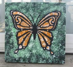SALEORANGE BUTTERFLY Original Acrylic by artbycathyhenderson, $40.00 Orange Butterfly, Canadian Artists, Acrylic Art, Original Artwork, Paintings, Seasons, The Originals, Unique Jewelry, Handmade Gifts