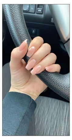 French Fade Nails, French Tip Acrylic Nails, Faded Nails, Subtle Nails, Natural Acrylic Nails, Acrylic Nail Shapes, Acrylic Nails Coffin Short, Simple Acrylic Nails, Almond Acrylic Nails