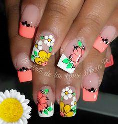 Spring Nails, Summer Nails, Nails Ideias, Wow Nails, Beige Nails, French Nail Art, Funky Nails, Long Acrylic Nails, Toe Nail Designs