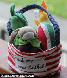 100% Organic Cotton Fruit Basket