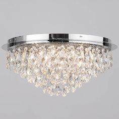 Flush Ceiling Light   Crystal 6 Light Chrome. Low Ceiling LightingChandelier  ...