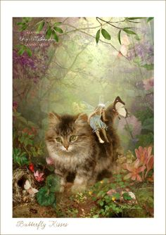 Fairy Print Mounted or unmounted or two sizes of plaques to choose from-All signed By Charlotte Bird Fantasy Kunst, Fantasy Art, Oil Paint Effect, Illustration Art, Illustrations, Flower Fairies, Fairy Art, Magical Creatures, Cat Art