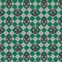 Harry Potter Flannel, Fabric By The Yard, Green Argyle Slytherin Crest, Slytherin Flannel, TheFabricEdge Tissu Harry Potter, Harry Potter Fabric, Background Slytherin, Minnie Mouse Fabric, Harry Potter Charms, Skull Fabric, Marvel Comic Books, Comic Book Covers, Fabric Material