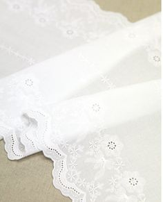 double side wide cotton eyelet lace 1yard width by cottonholic, $17.00