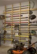 Top 80 Best Tool Storage Ideas - Organized Garage Designs - - From power to hand tools and beyond, discover the top 80 best tool storage ideas. Explore cool organized garage and workshop designs. Garage Storage Solutions, Diy Garage Storage, Shed Storage, Garage Organization, Storage Ideas, Organized Garage, Organization Ideas, Storage Shelves, Van Shelving