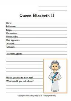 Celebrate the Queen's Birthday with our colouring pages, worksheets, crafts and free printable activities for children! Queen 90th Birthday, Birthday Badge, English Activities, Book Activities, Teachers Pet, Learning Time, Home Schooling, Business For Kids, Queen Elizabeth Ii