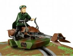 A new way to race with this fantastic Sar Wars themed speeder bike. This speeder bike was made famous during the Endor forrest chase scene.
