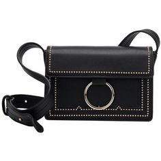 Cherie Black Mini Bag ($74) ❤ liked on Polyvore featuring bags, handbags, shoulder bags, foldover crossbody, crossbody shoulder bag, mini crossbody purse, faux leather crossbody and mini handbags