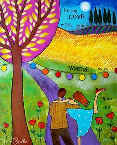 Bring (or send a little!) love with you where ever you go.