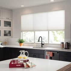 Prepare your home for the summer heat with energy-efficient window coverings that keep your home cool and reduce energy use all at once. Cortina Roller Black Out, Budget Blinds, Energy Efficient Windows, Energy Use, Summer Heat, Window Coverings, Curtains, Cool Stuff, Kitchen