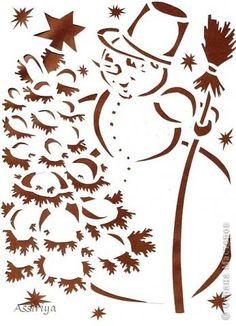 Фотоальбом Трафареты группы Новогодние вытынанки. в Одноклассниках