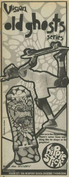 Vision Skateboards - Hippie Stick Ad (1985)