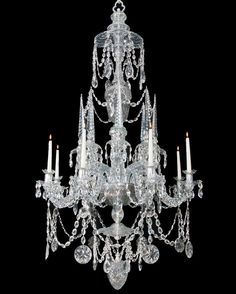 Highly Important Continental Cut Glass Chandelier of Finest Quality | From a unique collection of antique and modern chandeliers and pendants  at http://www.1stdibs.com/furniture/lighting/chandeliers-pendant-lights/