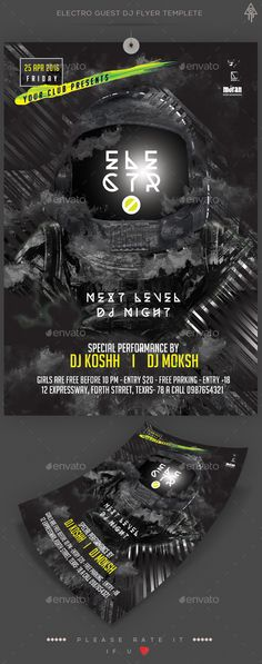 Guest Dj \ Electro Flyer Template Flyer template, Flyers and - electro flyer