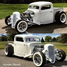 Instagram Hot Rod Trucks, Old Trucks, Classic Hot Rod, Classic Cars, Vintage Cars, Antique Cars, Hot Rod Pickup, Retro, Old School Cars