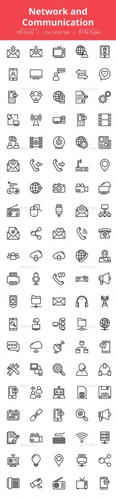 100 Network and Communication Icons
