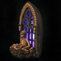 Skeleton Gothic Window with LED Backlight