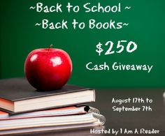 Back to the Books $250 Cash Giveaway #BlogTour #Giveaway - Diana's Book Reviews