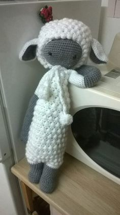 LUPO the lamb made by Céline R. / crochet pattern by lalylala