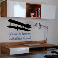 First Flight Quote 28 X 24 inches Vinyl Wall by aluckyhorseshoe, $24.00
