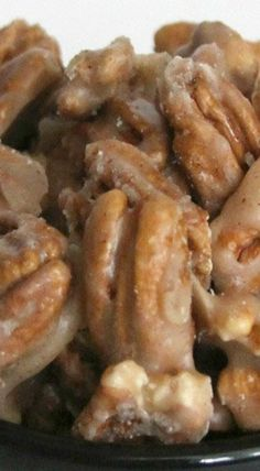 Food Photography: Cinnamon Glazed Pecans - Home Candied Pecans Recipe, Glazed Pecans, Cinnamon Pecans, Candied Nuts, Pecan Recipes, Candy Recipes, Holiday Recipes, Holiday Appetizers, Holiday Treats