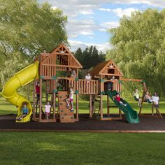 Charmant Backyard Odyssey Reno Cedar Playset