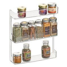 Wall Spice Rack, Wall Mounted Spice Rack, Food Storage Organization, Beauty Room Decor, Essential Oil Storage, Spice Jars, Kitchen Pantry, Mason Jars, Spices
