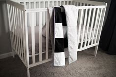 Baby Boy Crib Bedding, Striped Quilt, Quilt Top, Stripe Print, Grey Stripes, Cribs, Quilts, Blanket, Black And White