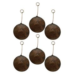 Copper Hand-hammered Round Christmas Ornaments