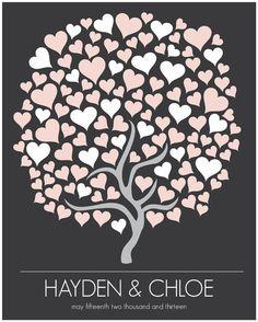 Árbol de firmas para tu boda de HARVEYGREY