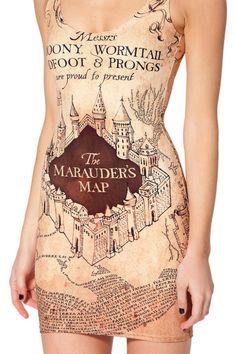 Harry Potter MARAUDERS MAP DRESS