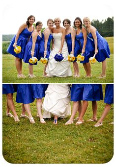 blue and yellow/ shoes cobalt wedding
