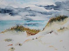 An der schönen Nordsee. Aquarell von MachART-Bettina Rothfuss.