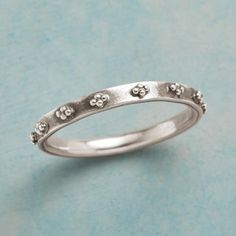 TINY CLOUDS RING -- Petite clouds of dotted sterling circle this oxidized and eminently stackable sterling silver band. Whole sizes 5 to Boho Rings, Boho Jewelry, Fashion Rings, Fashion Jewelry, Boho Accessories, Handmade Rings, Cute Rings, Oxidized Sterling Silver, Clouds